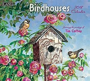 Lang - 2018 挂历 - 艺术品 - 12 个月 - 打开,13 3/8 X 24 英寸 Birdhouses 13.375 inch x 24 inch