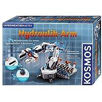 Kosmos 69189 儿童*学习玩具  液压机器手臂,液压和气压实验箱,带抓握手臂  和吸盘,适合 10至14岁 10 Jahre to 14 Jahre Edition 2017 灰色