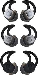 替换耳塞 Eartips 用于Soundsport 耳机,小号中号和大号消噪双法兰耳钩 适用于Bose QC20 QC30 Soundsport 耳机 [ 3 对]