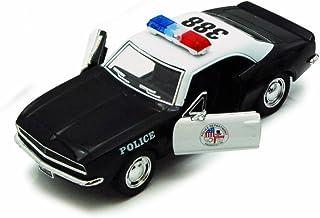 1967 雪佛兰 Camaro Z/28 警车,黑色 - Kinsmart 5341D - 1/37 比例压铸模型玩具汽车