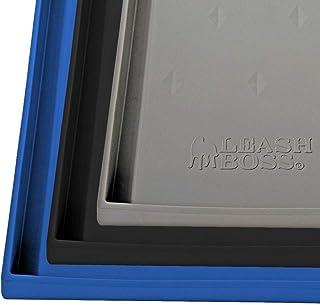 Leashboss Splash Mat XXL 狗粮垫 带高嘴唇,30 x 22 英寸(约 76.2 x 55.9 厘米)超大狗碗垫 用于食物和水 防滑防水硅胶宠物食品垫 适用于狗和猫(XXL - 30 x 22 英寸(约 76.2 x 55.9 厘米),黑色)