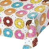 Creative Converting 全身印花塑料桌布,甜甜圈时间