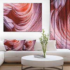 "Designart Antelope Canyon 紫色墙景观照片帆布印刷品,紫色 紫色 20x12"" PT8787-20-12"