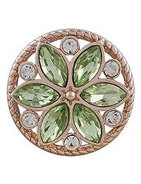 My Prime Gifts Snap 珠宝玫瑰金 浅绿色和透明侯爵花纹 18-20mm x