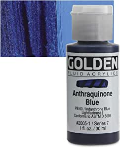 Golden Fluid Acrylic Paint 1 Ounce-Anthraquinone Blue