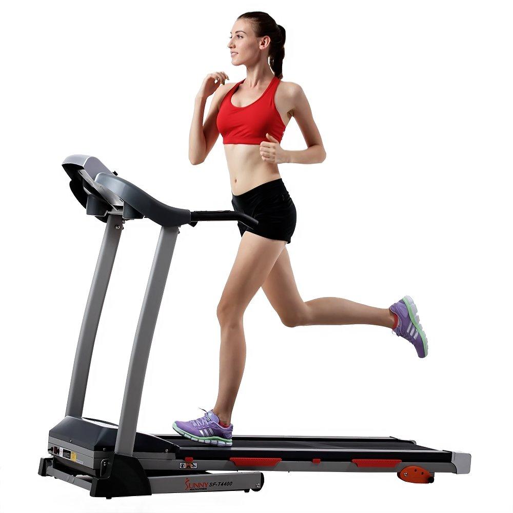 雾霾天在家健身利器!Sunny Health&Fitness 家用静音可折叠跑步机SF-T4400