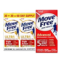 Schiff Move free维骨力氨糖软骨素片红瓶基础版170粒+白瓶精华素 60粒 (美国品牌 香港直邮)