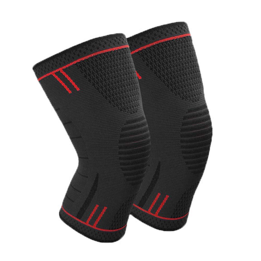 Dinoka)周りのユニバーサル拡張性、通気性登山アウトドアスポーツサッカーバスケットボールを実行している男性と女性の膝の膝の運動膝の膝を抗筋肉靭帯の損傷の回復ロード* 2片膝2と保護