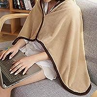 双面珊瑚绒毛毯法兰绒沙发毯午睡毯空调纽扣披肩上班午休毯膝盖毯汽车毯空调毯子 (珊瑚绒午休毯【驼色】)