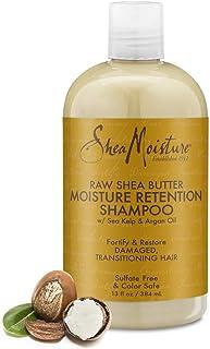 SHEA MOISTURE 保湿洗发露,适合干燥,受损或过渡期头发 含原乳木果油,可为头发保湿 13盎司/384毫升