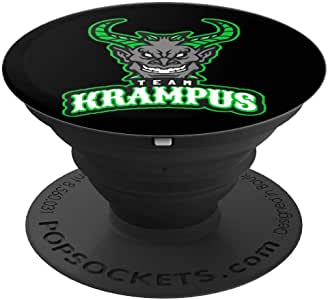 Team Krampus - Gruss Vom Krampus Design Ugly Christmas PopSockets 手机和平板电脑握架260027  黑色