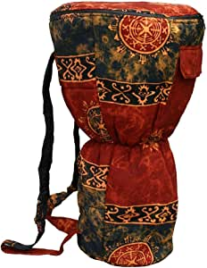X8 Drums & Percussion X8-BG-CHOC-XL Djembe Backpack Bag with Chocolate Celestial Design, XL