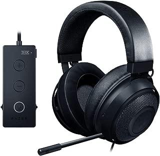 Razer 雷蛇 Kraken Tournament Edition 游戏耳机 - [哑光黑]: 铝制框架 - 可伸缩降噪麦克风 - THX 7.1环绕声USB DAC - 适用于PC,Xbox,PS4,Nintendo Switch