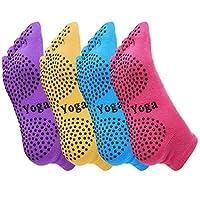 清仓 UZIPAL 健身瑜伽袜五指袜 硅胶防滑运动袜子 纯棉透气吸汗瑜伽运动健身袜子 颜色随机(3双装)
