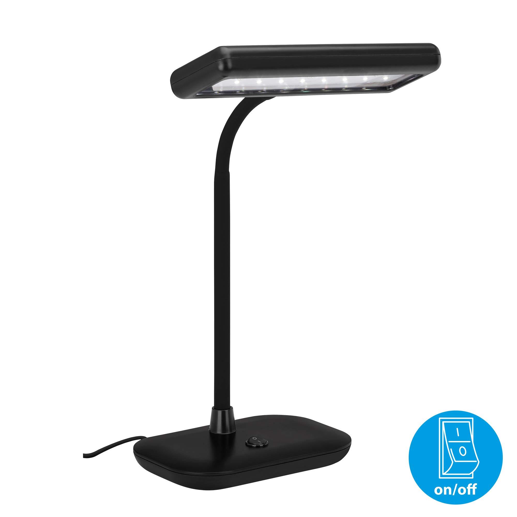 Briloner Leuchten LED 台灯,日光灯 6000 开尔文,800 流明,7.5 瓦,包含倾斜开关,灯颈可旋转和旋转,黑色,440 x 230 x 120 毫米(高x长x宽),7.5 W