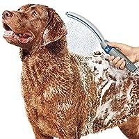 waterpik 洁碧 宠物淋浴喷洒配件 PPR-252 Pet Wand Pro,2.5 GPM,用于快速便捷地在家中为狗狗清洁,蓝色/灰色