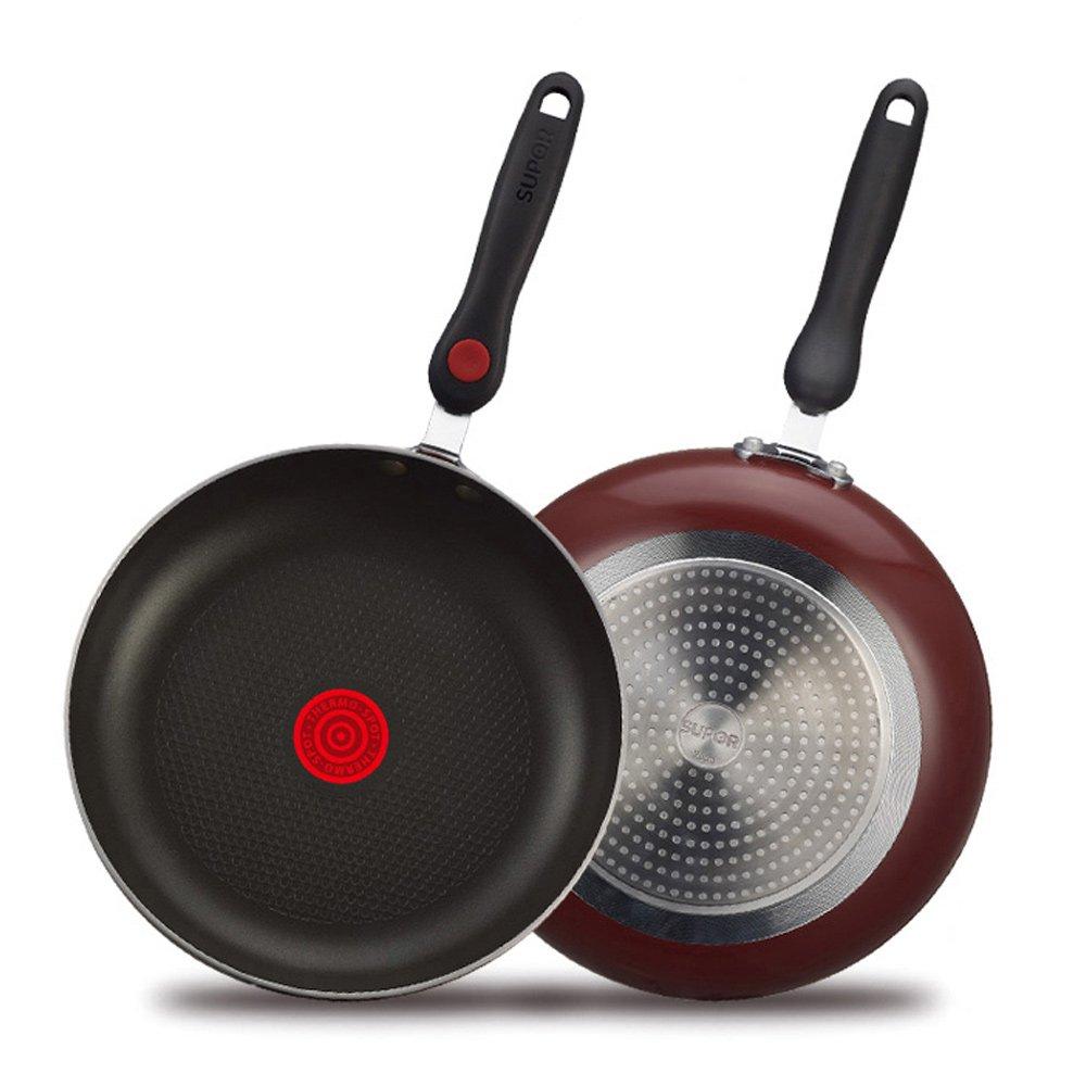 苏泊尔平底锅牛排煎锅火红点不粘锅煎蛋锅电磁炉通用家用厨具26cm