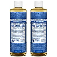 Dr. Bronner's, Liquid Soap, Peppermint Hemp, 16 oz (pack of 2)