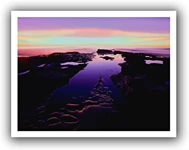 ArtWall Dean Uhlinger 'Low Tide Afterglow' Unwrapped Canvas Artwork, 28 by 36-Inch