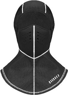 SUNLAND Balaclava 滑雪面罩冬季面罩摩托车羊毛保暖帽面罩适用于摩托车骑行黑色