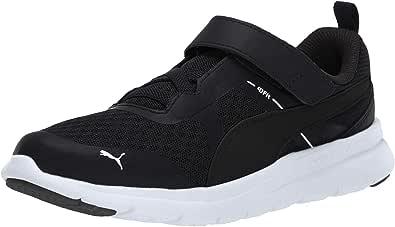 PUMA 彪马 中性 儿童 Flex Essential Velcro 运动鞋 黑色/黑色 1 Little Kid