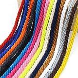 天然扭曲棉质绳索柔软三股扭结棉质绳,适合运动、装饰、宠物玩具、工艺和室内室外使用直径 1/8 英寸、1/6 英寸、1/5 英寸、1/4 英寸、3/8 英寸、2/5 英寸、0.5 英寸、3/5 英寸、3/5 英寸和 1.5 英尺 天然 9mm-25ft RD019-NC-9mm-25ft