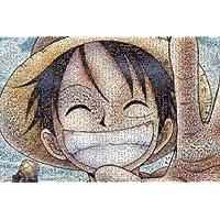 日本ENSKY拼图海贼王马赛克拼图路飞笑脸树脂版1000片