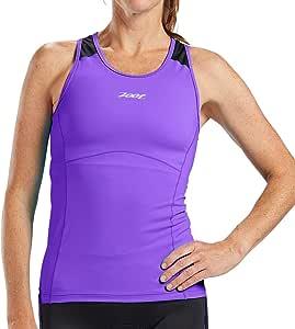 Zoot 女士 Core Racerback 铁人三项背心 - 高性能铁人三项上衣内置文胸和耐力面料