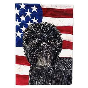 USA American Flag with Affenpinscher Flag 多色 大