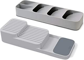 Joseph Joseph DrawerStore 餐具盒 刀盒,2件套,灰色