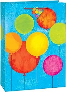 大彩绘气球生日礼品袋