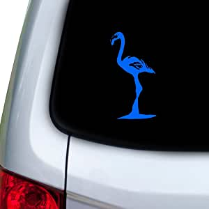 StickAny 汽车和汽车贴花系列 火烈鸟 1 贴纸适用于窗户、门、引擎盖(默认) 蓝色 1644-58532