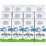 【澳洲副总理品鉴】Vitalife唯生活澳洲进口牛奶进口全脂纯牛奶1L*12盒整箱咖啡打泡酸奶DIY专用奶