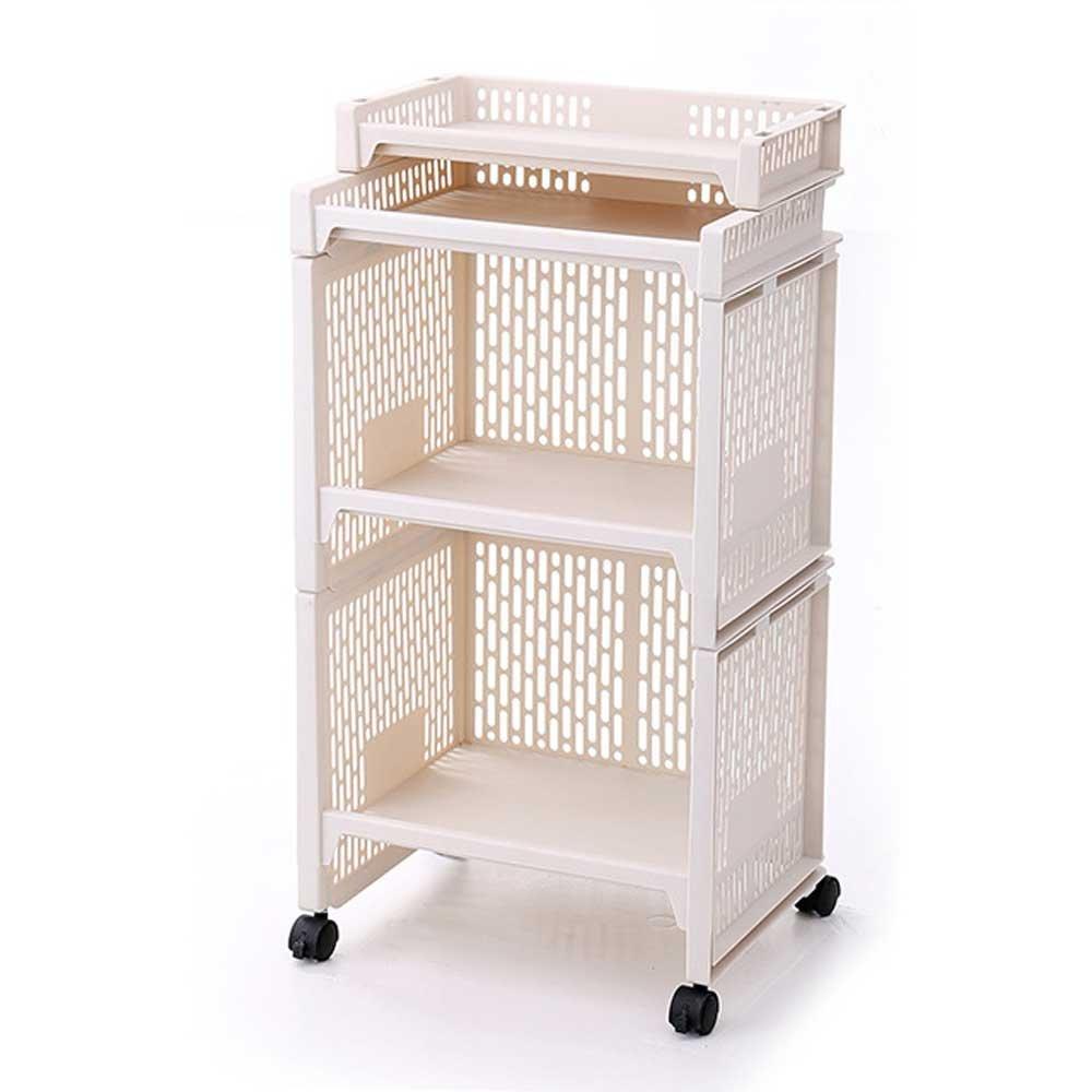 喜禾hiho 日韩多功能厨房置物架 浴室组合收纳架 整理架落地架 塑料