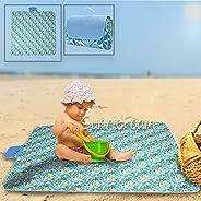 "SunnieFoam""57.5x77.5 野餐和户外毯子防水防沙沙滩垫"
