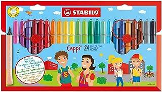 STABILO Cappi – 毛毡笔带帽戒指 24er Pack 多种颜色