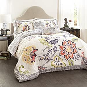 Aster 5-Piece Quilted Comforter Set by Lush Decor