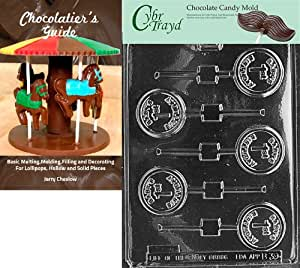 "Cybrtrayd""Baby's 1St Birthday Lolly"" Baby Chocolate Candy Mold with Chocolatier's Guide"