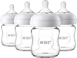 Philips Avent 4 件套透明天然玻璃婴儿奶瓶 SCF701/47