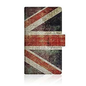 CaseMarket 【手册式】 Y! mobile STREAM S (302HW) 超薄外壳 针脚模型 [ 英国国旗 珍藏品 大 复古 打印 UK 1927 日记本 ] 302HW-VCM2S2313
