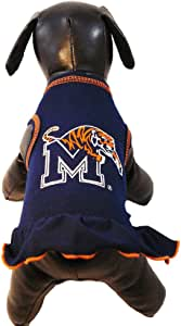 NCAA 孟菲斯大学老虎队啦队长狗狗连衣裙,小号