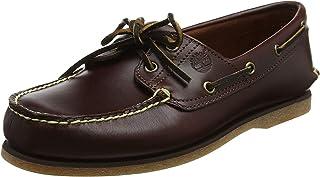 Timberland 男士经典牛津布两眼船鞋