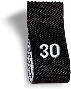Wunderlabel 成人尺寸标签编织标签服装缝制服装面料面料丝带标签 100 qty -White on Black S30 ASN001_HL00B_S30_100