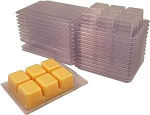 Coo Candles 6 型腔果壳模具 适用于无芯蜡熔化蜡烛 100 Mold100