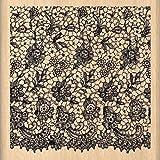 Florilèges 设计印章 ff113009 剪贴 蕾丝 米色 方形 8 x 8 x 2.5 厘米