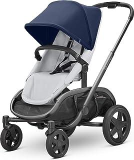 Quinny 酷尼 VNC 轻便高景观婴儿推车,双向可坐可躺,轻便可折叠,四轮独立悬挂避震系统,超大置物篮,适合0-4岁,伯爵蓝