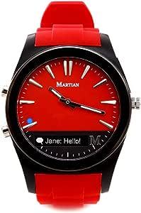 MARTIAN 摩绚 MN200RBR Notifier系列 信息通知智能腕表 红色(亚马逊进口直采,美国品牌)