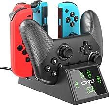 Switch Joy-Con 控制器充電器和 Pro 控制器充電底座,適用于 Nintendo Switch 的 OIVO 5 合 1 快速充電器擴展塢 - 包含 2.8 英尺 C 型電纜