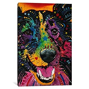 "iCanvasART 1 Piece Smiling Collie Canvas Print by Dean Russo, 18 by 12""/1.5"" Deep"