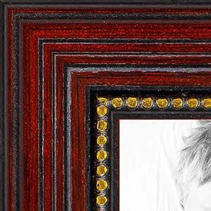 """樱桃木画框带金珠 .2.54 cm 宽 樱桃色 11 x 24"""" 2WOM80801-CHY-11x24"""